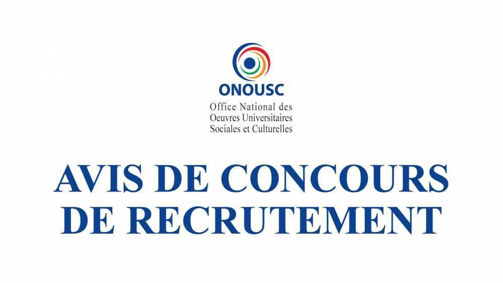 AVIS DE CONCOURS DE RECRUTEMENT - SESSION 20/06/2021