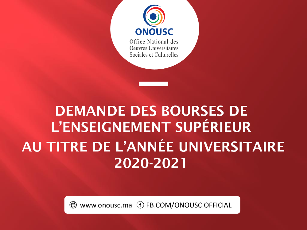NOTE RELATIVE A LA DEMANDE DES BOURSES DE L'ENSEIGNEMENT SUPÉRIEUR AU TITRE DE ANNELÉE UNIVERSITAIRE 2020-2021